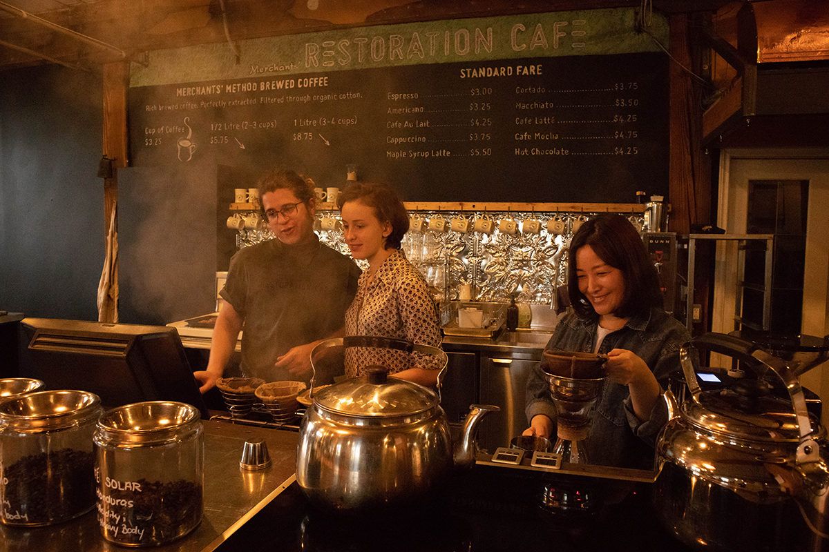 restoring coffee toronto cafe