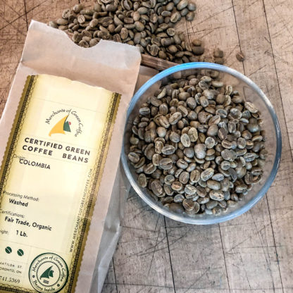 certified green coffee from Colombia