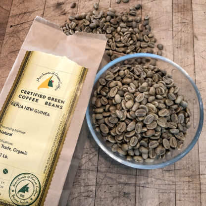 certified green coffee from Papua New Guinea