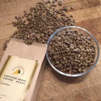 green coffee beans from Sumatra