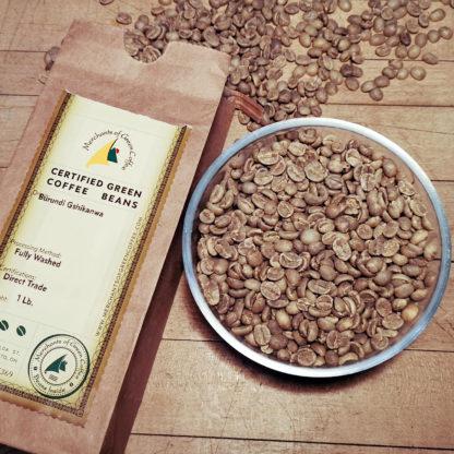 certified Burundi green coffee beans