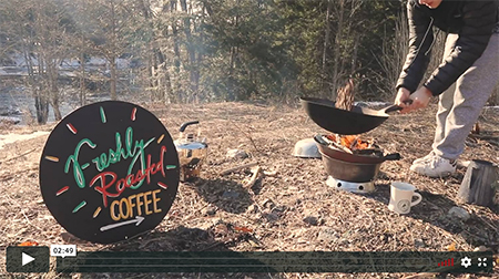 Feature image cover for video: Wok Roasting Coffee By the Stream