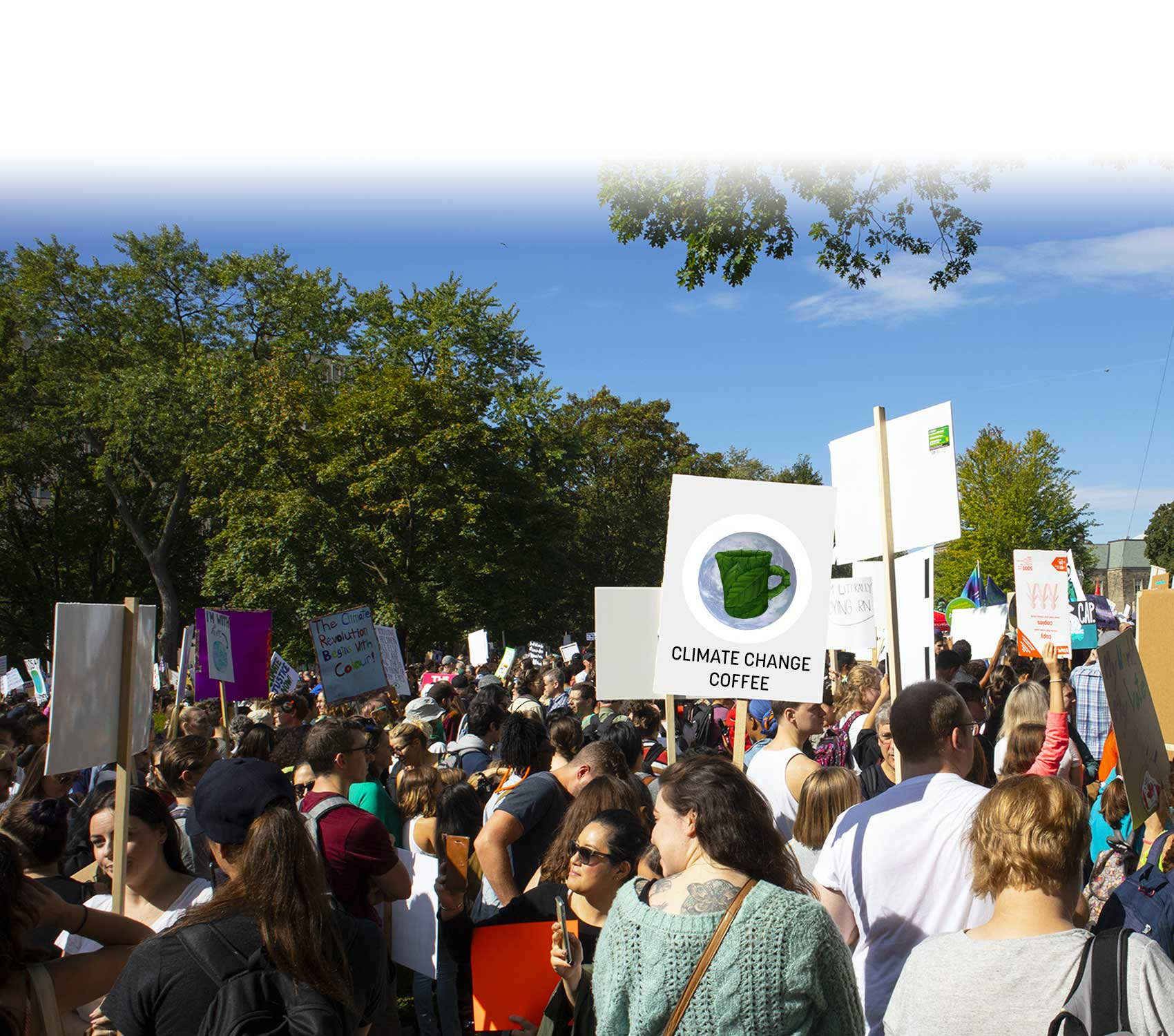 Climate March Participants in Toronto.